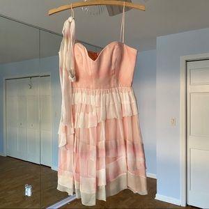 Foley + Corinna Pink Ruffle Party Dress